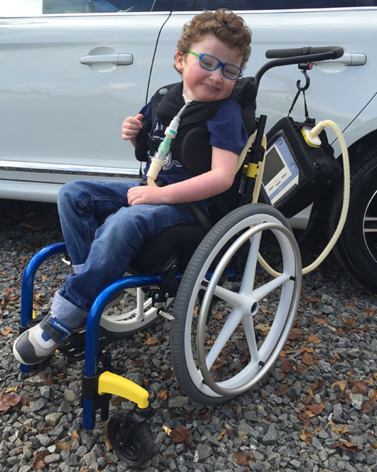 Ben Gets Out And About In His Clik Wheelchair