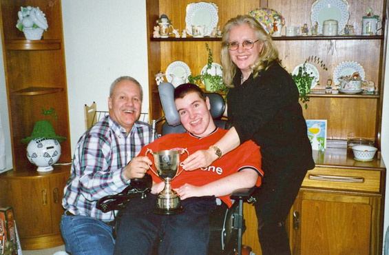 Chris Joins Muscular Dystrophy Campaign Family Funds
