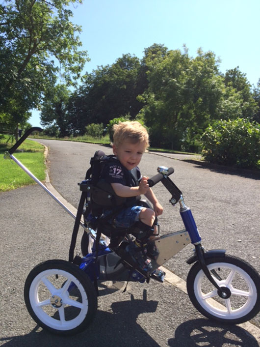 Ethan's New Trike Hits The Road