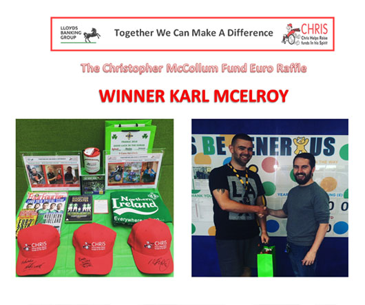 3 Caps for Chris Northern Ireland Euros Raffle – A Result