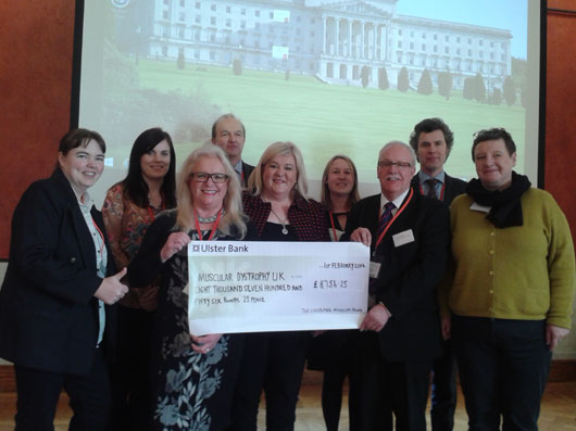 Gala Dinner Cheque Presentation at Stormont