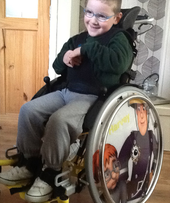 Harvey's Wheelchair Featuring Fireman Sam And Naughty Norman Price