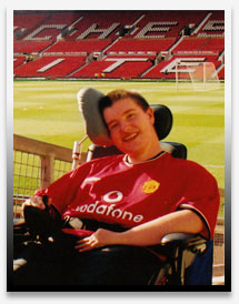 Christopher at Old Trafford