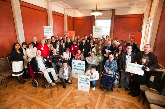 Lobby at Stormont with Margaret Ritchie, Social Development Minister, Muscular Dystrophy and CHRIS