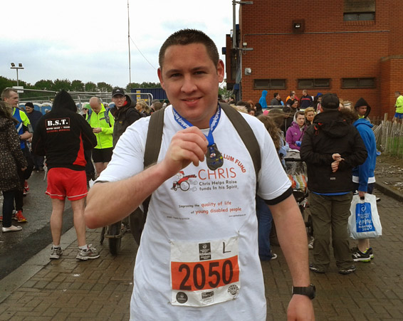 New Dad Ross Completes His 26.2 Miles