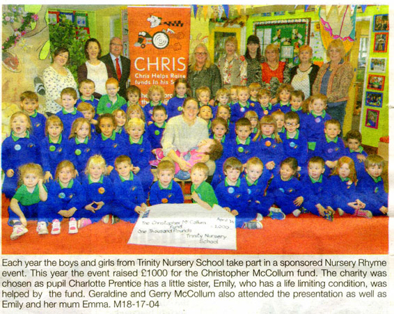 Support from Trinity Nursery School