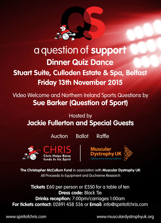 A Question of Support – Charity Gala Dinner