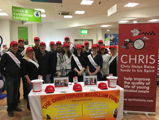 Team Emerald in Asda Bangor – A Bumper Bag Pack