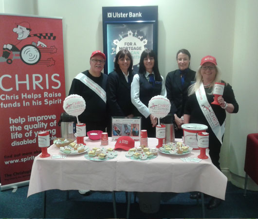 "Tray Bake Treats for ""Chris"" at Ulster Bank Bangor"